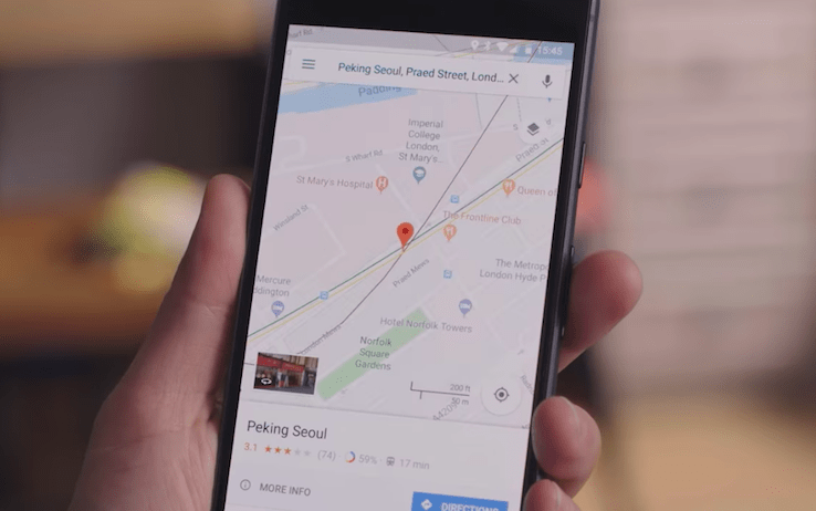 aggiornamento google maps
