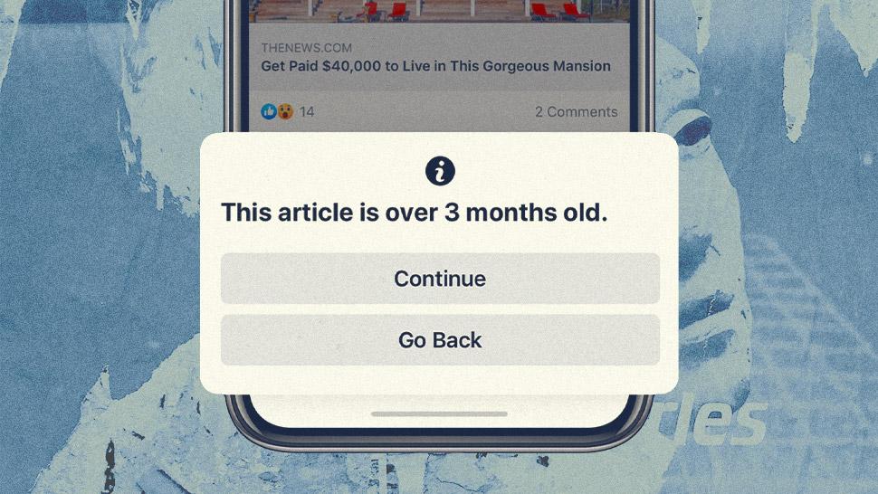 notizie vecchie su Facebook