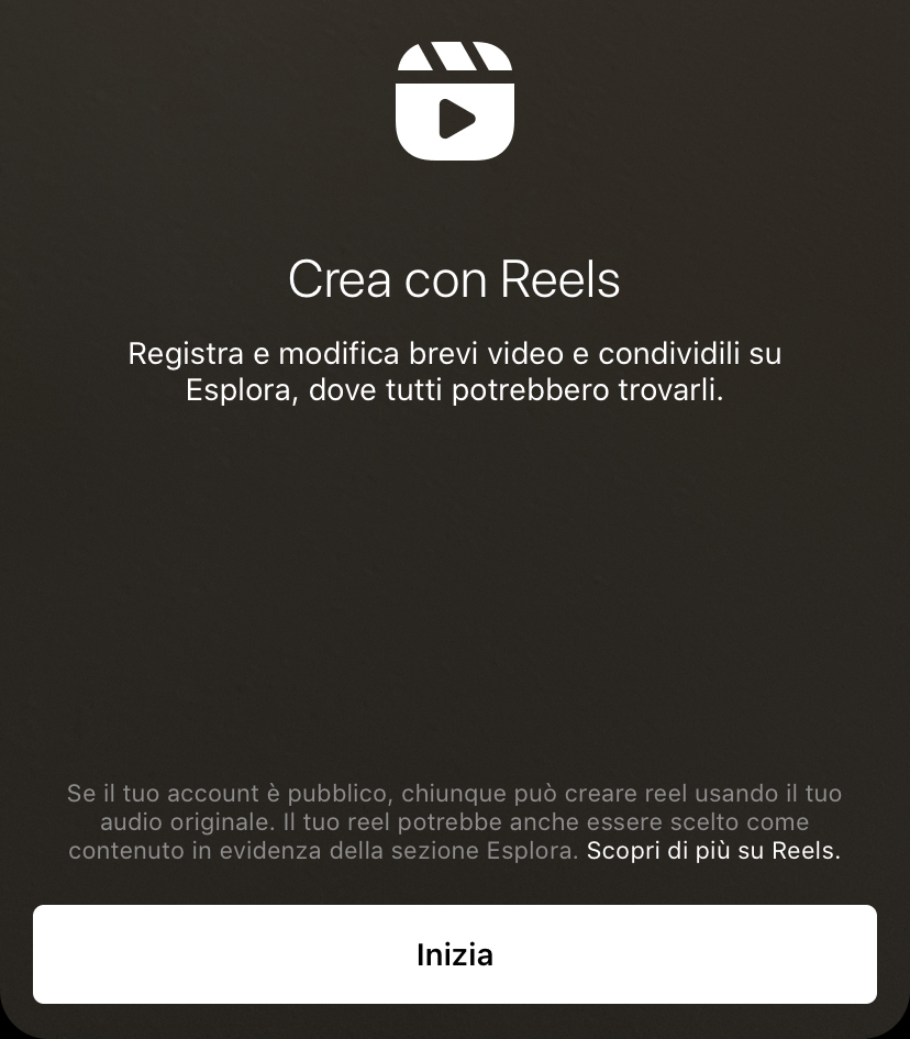 schermata instagram reels