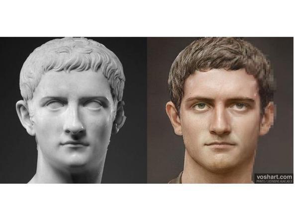 imperatore Caligola viso ricreato