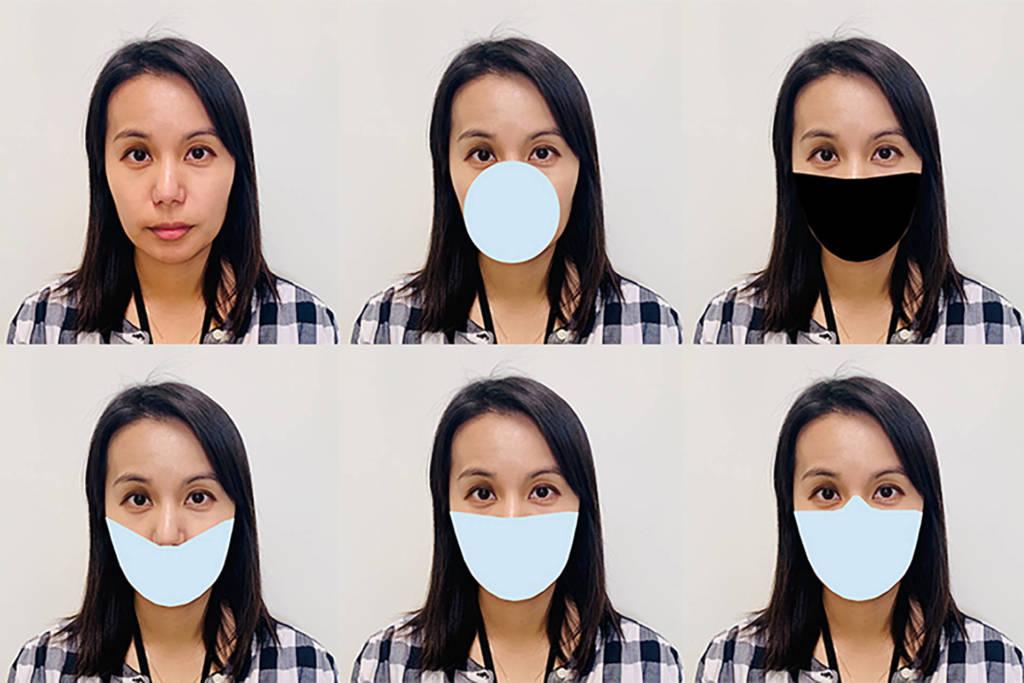 mascherine riconoscimento facciale