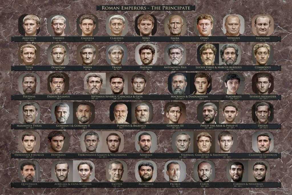 Volto degli imperatori Romani