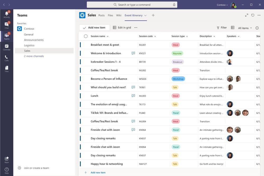 Microsoft Teams - Microsoft Lists