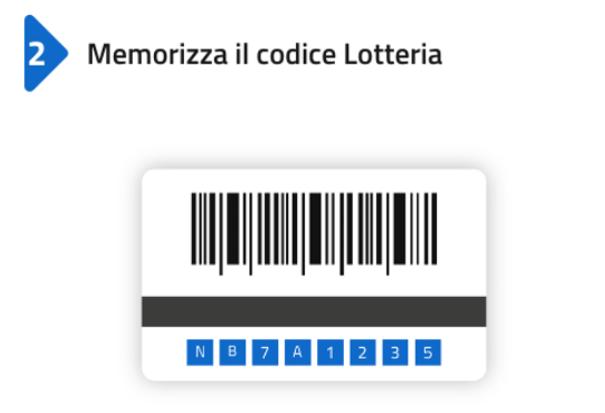 memorizza codice lotteria