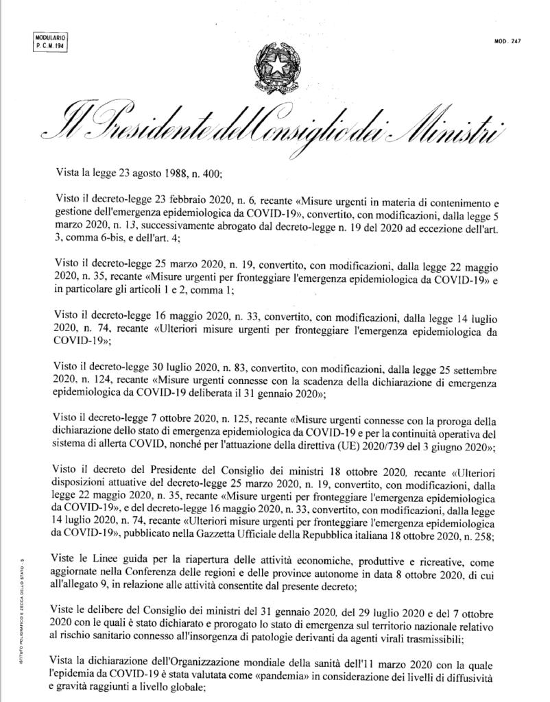 Nuovo DPCM ottobre file PDF