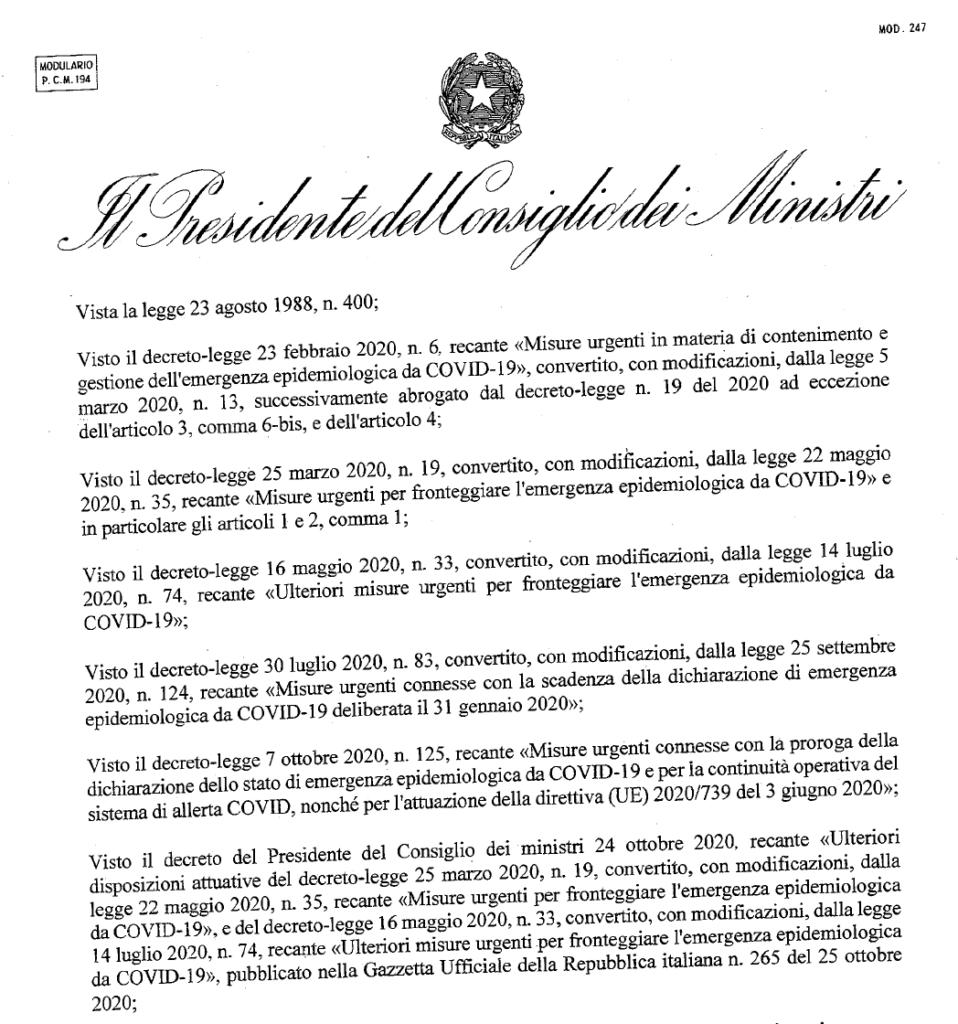 Nuovo Dpcm 4 novembre PDF