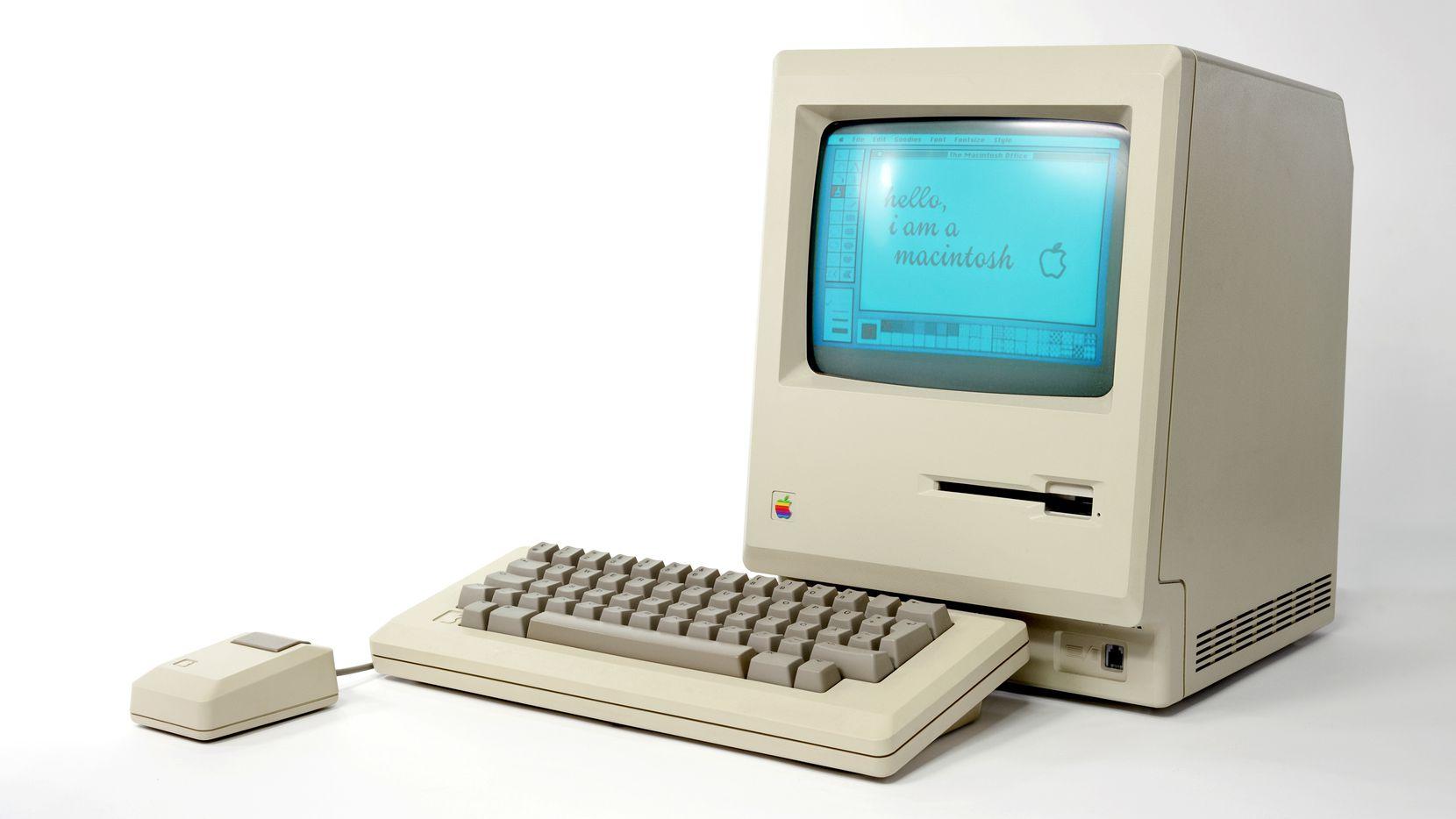 macintosh del 1984 con mouse
