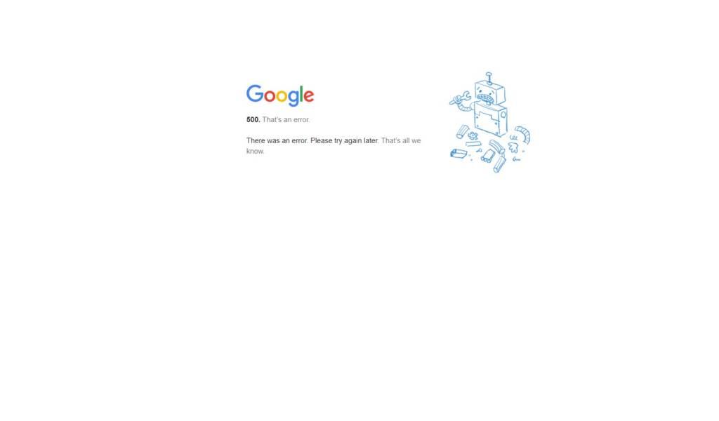 Google Down: Server di google crollano problemi con gmauil. Drive e youtube