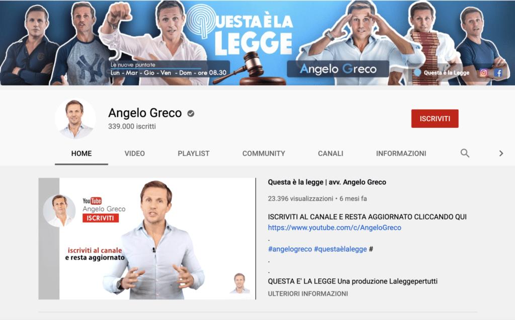 Youtuber Angelo Greco