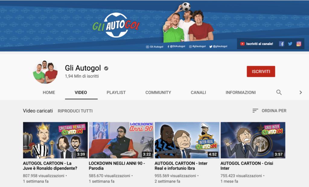 migliori youtuber italiani Gli Autogol