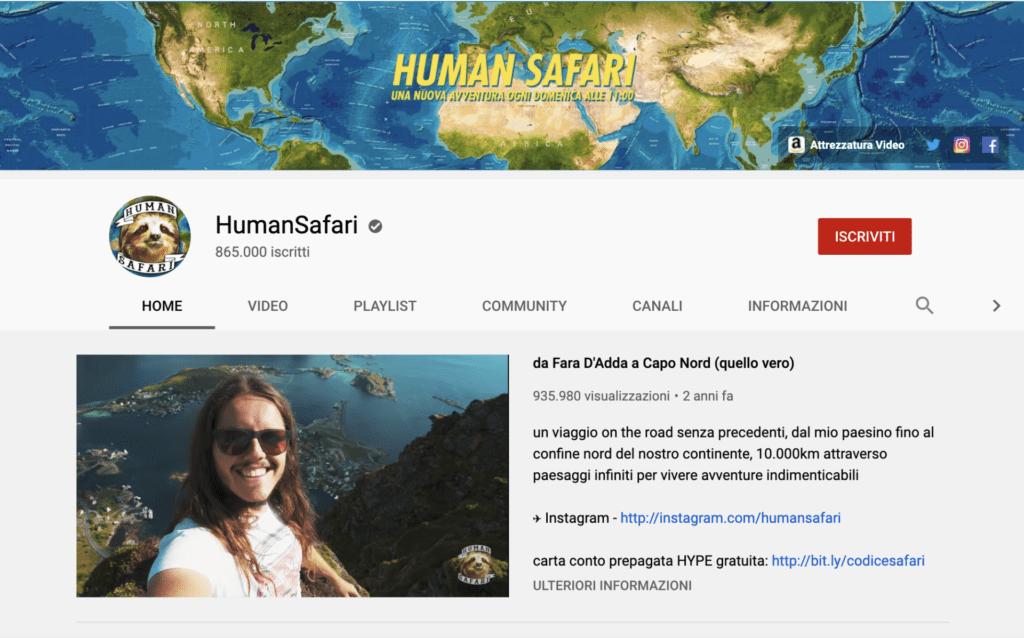 Migliori youtuber italiani Human Safari