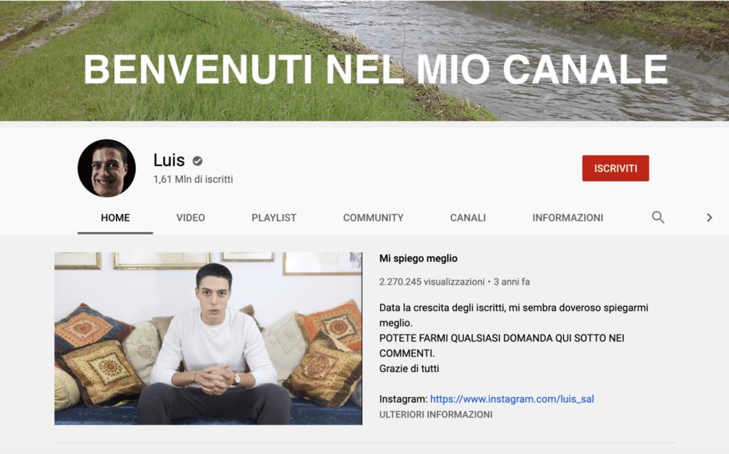 Migliori youtuber italiani LUIS
