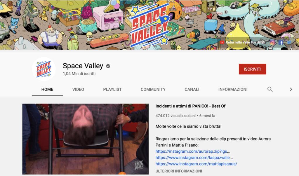 migliori youtuber italiani Space Valley