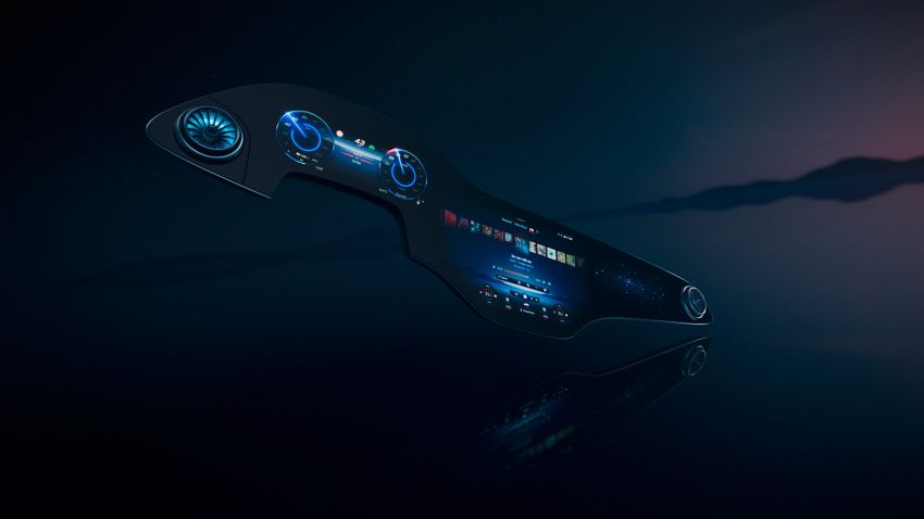 plancia tech Mercedes MBUX Hyperscreen