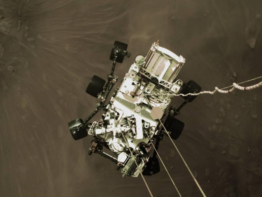 Foto Marte Perseverance atterraggio