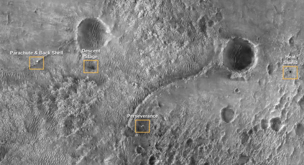 Foto Marte Perseverance superficie