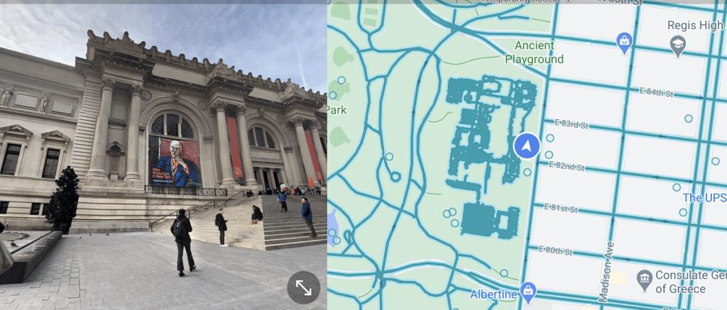 esempio split screen google maps