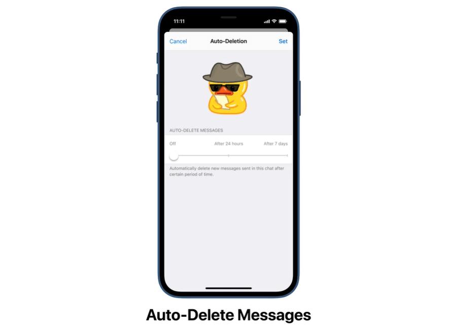 telegram funzione auto elimina