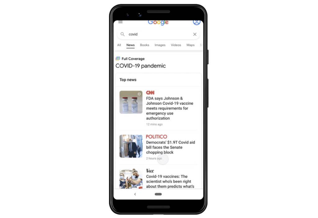 Google Search copertura completa