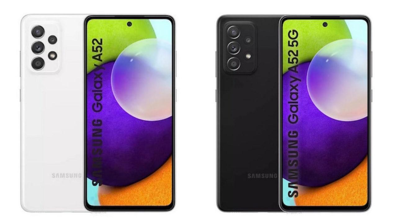 Samsung Galaxy A52 fronte retro