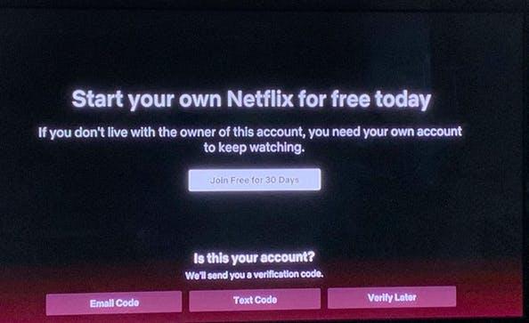 blocco account condiviso Netflix