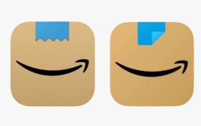 """Nuovo logo Amazon: si cambia l'icona dell'app, la vecchia ricordava i """"baffi di Hitler"""""""