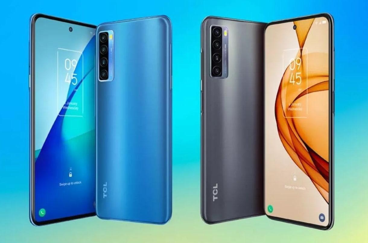 smartphone TCL 20L + fronte retro
