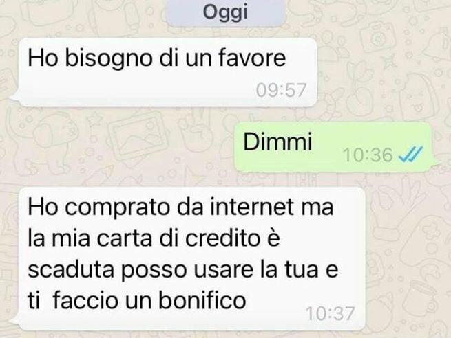 truffa whatsapp messaggio amico