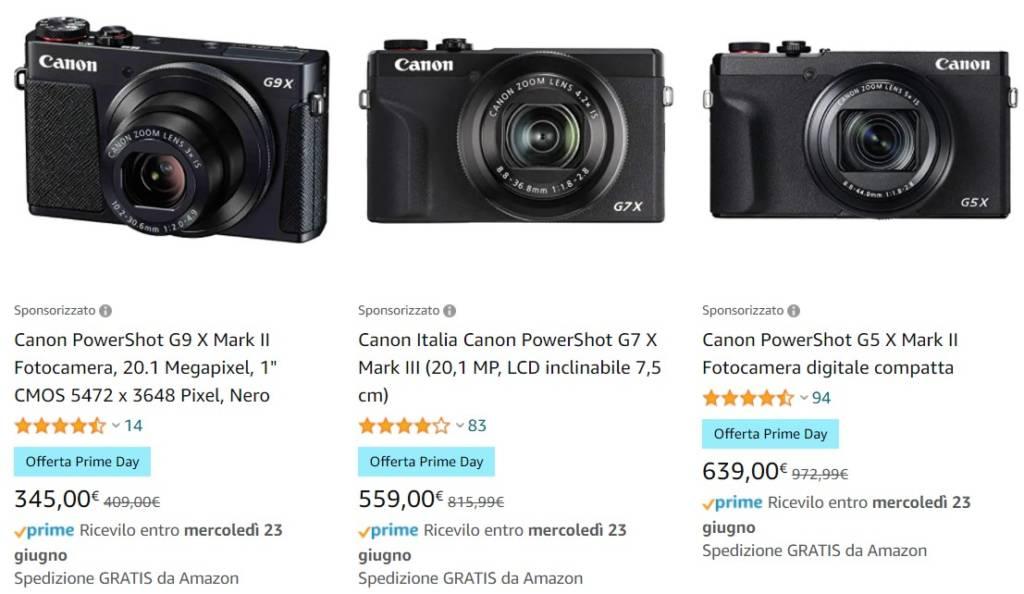 Fotocamere Canon offerta amazon prime day 2021