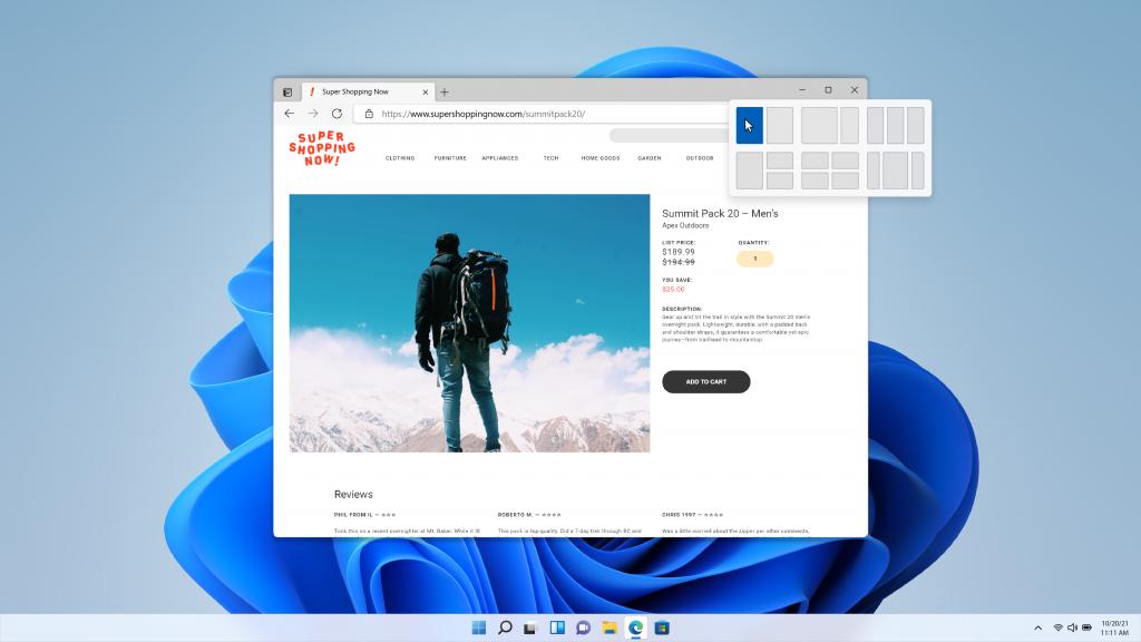 Windows 11: Snap Assist
