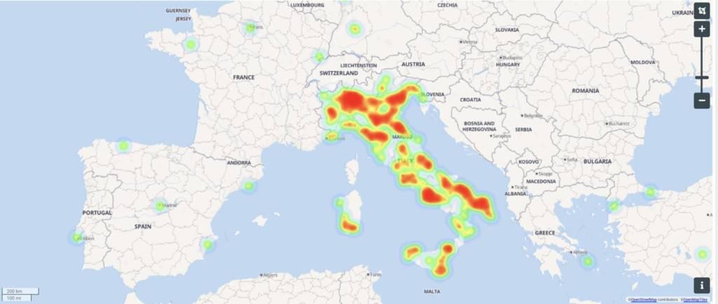 Stefania Orlando dati social mappa