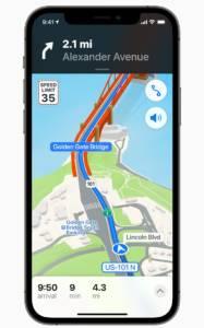 app maps su iOS 15
