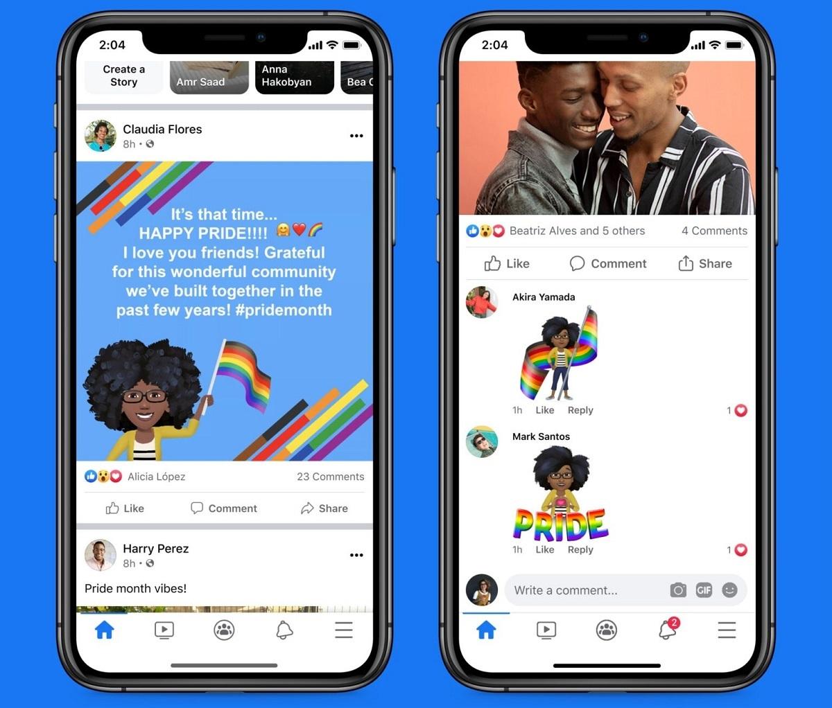novità pride 2021 facebook e instagram