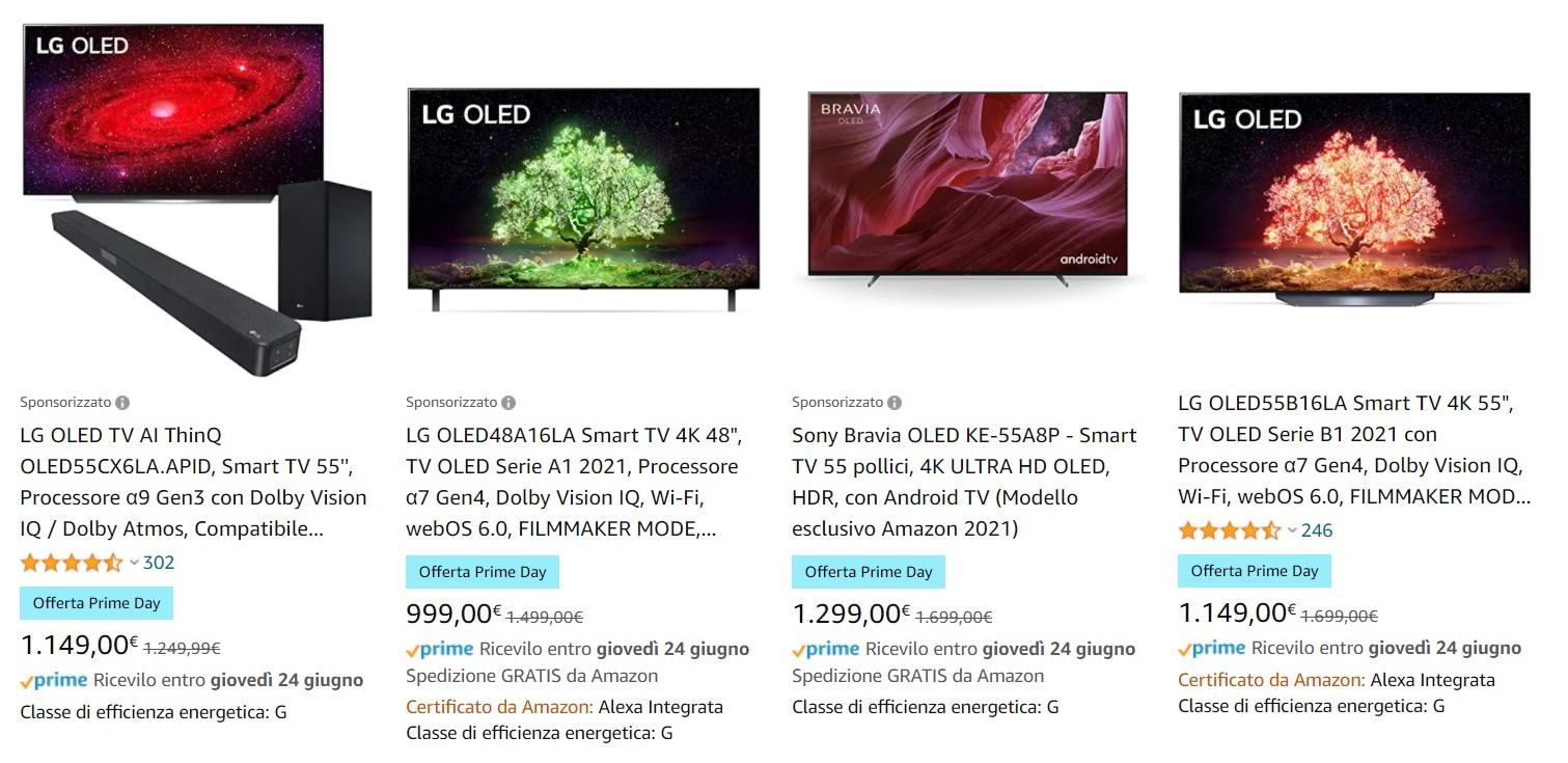 smart TV LG OLED offerte Prime Day