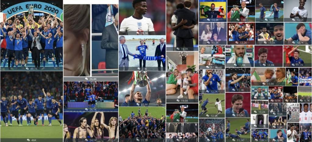 Euro 2020 dati social