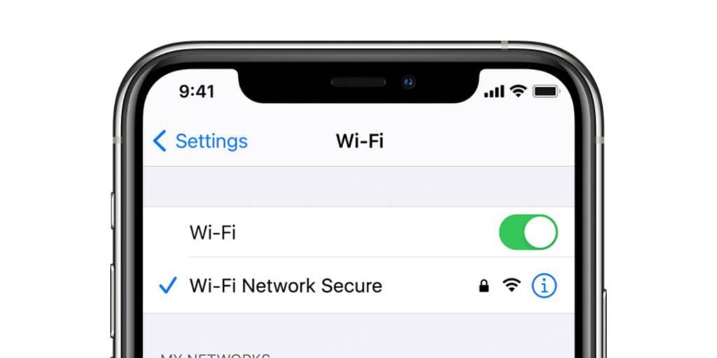rete Wi-Fi iPhone