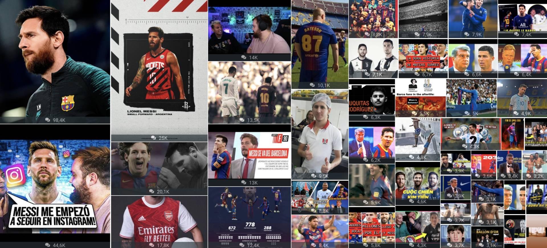 Messi lascia il Barcellona, i dati social