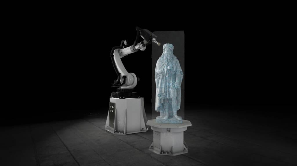 Robot scultore marmo Robotor
