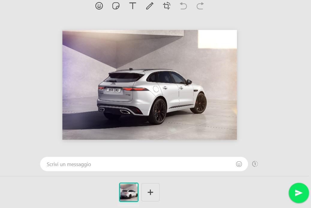 whatsapp web editor foto