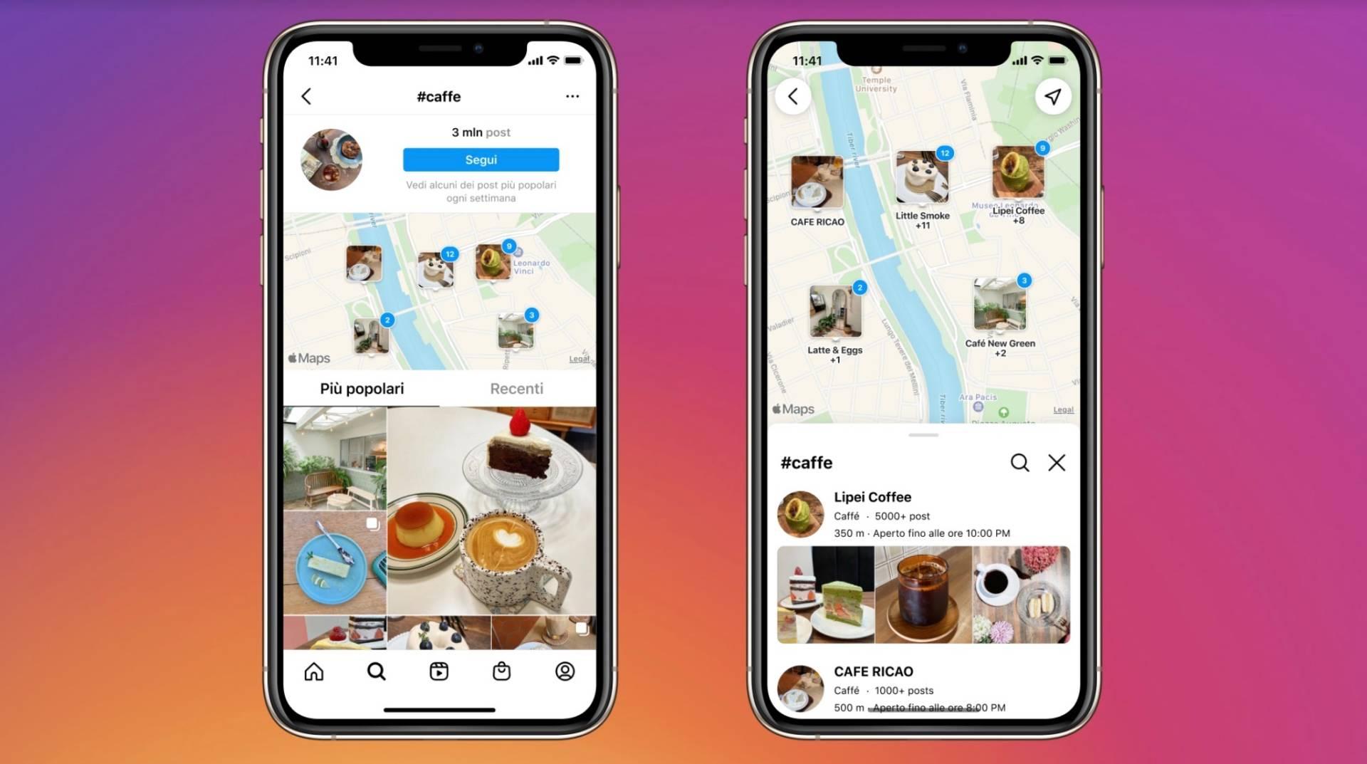 Cerca sulla mappa, la nuova funzione di Instagram