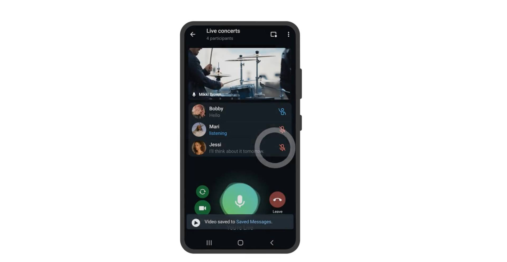 Registrazione delle dirette streaming: tutte le novità dell'aggiornamento Telegram